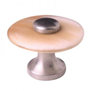 Mood 021 Satin Pewter Brown Cattle Horn Cabinet Handle