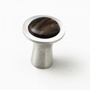 Mood 055 Satin Pewter Brown Horn Cabinet Knob