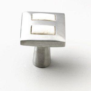 Mood 067 Satin Pewter Cattle Bone Cabinet Knob