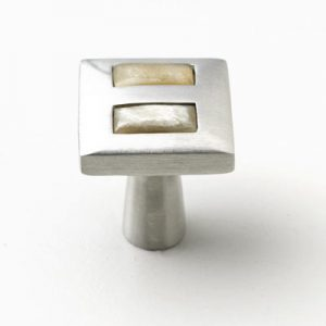 Mood 063 Satin Pewter Brown Cattle Horn Cabinet Handle