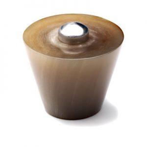Mood 084 Satin Pewter Natural Horn Cabinet Knob
