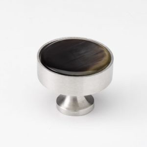 Mood 089 Satin Pewter Brown Cattle Horn Cabinet Handle