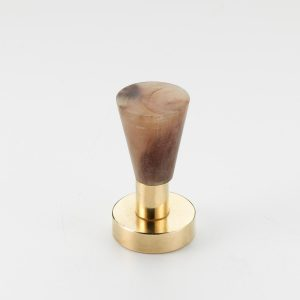 Mood 171 Polished Brass Brown Cattle Horn Cabinet Handle