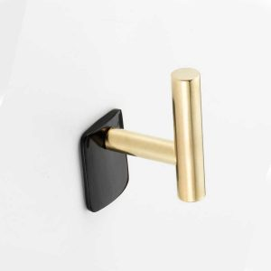 WH161 Mood Brass Black Cattle Horn Wall Hook
