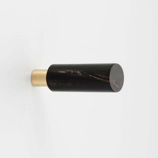 WH187 Mood Brass Black Cattle Horn Wall Hook
